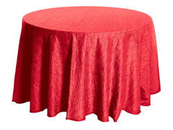 "90"" Round Crinkle Taffeta Tablecloth"