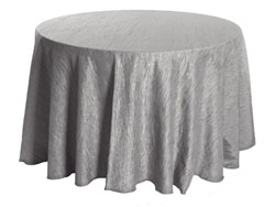 "96"" Round Crinkle Taffeta Tablecloth"