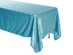 "Rental 50"" x 120"" Premium Pintuck Rectangular Tablecloth - Squared Corners"