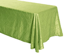 "Rental 90"" x 132"" Premium Pintuck Rectangular Tablecloth - Rounded Corners"