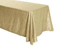 "Rental 90"" x 156"" Premium Pintuck Rectangular Tablecloth - Rounded Corners"