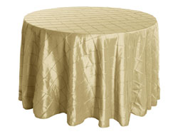 "Rental 108"" Premium Pintuck Round Tablecloth"
