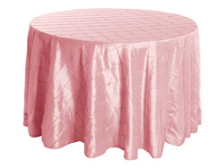 "Rental 120"" Premium Pintuck Round Tablecloth"
