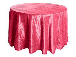 "Rental 132"" Premium Pintuck Round Tablecloth"