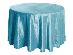 "Rental 90"" Premium Pintuck Round Tablecloth"