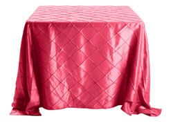 "Rental 90"" x 90"" Premium Pintuck Square Tablecloth"