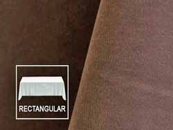 "Rental 90"" x 156"" Velvet Rectangular Tablecloth - Rounded Corners"