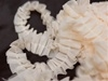 "SO NICE Ruffle Trim - Ivory 1.5"" x 25 yard Satin-Edged & Organza & Glitter"