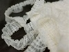"SO NICE Ruffle Trim - Ivory 1.25"" x 25 yard Lace & Chiffon & Satin"