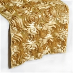 Grandiose Rosette Table Runners – Champagne