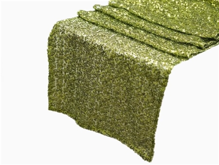 Duchess Sequin Table Runners – Apple Green