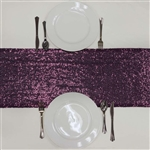 Duchess Sequin Table Runners – Eggplant
