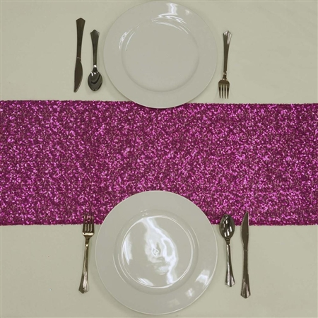 Duchess Sequin Table Runners – Fushia