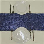 Duchess Sequin Table Runners – Navy Blue