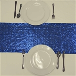 Duchess Sequin Table Runners – Royal Blue