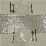 Duchess Sequin Table Runners – Silver