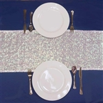 Duchess Sequin Table Runners – White