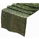 Duchess Sequin Table Runners – Willow Green