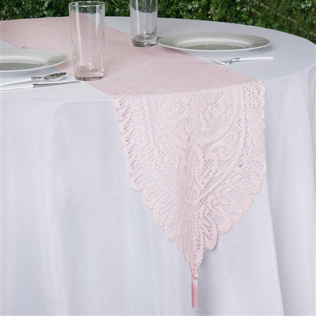 Lace Runner (Jolly Good) - Blush