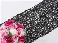 Sequin Studded Lace Table Runners – Black
