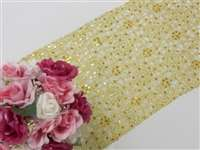 Sequin Studded Lace Table Runners – Gold