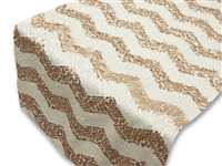 Chevron Sequin Table Runners – Champagne