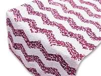 Chevron Sequin Table Runners – Fushia