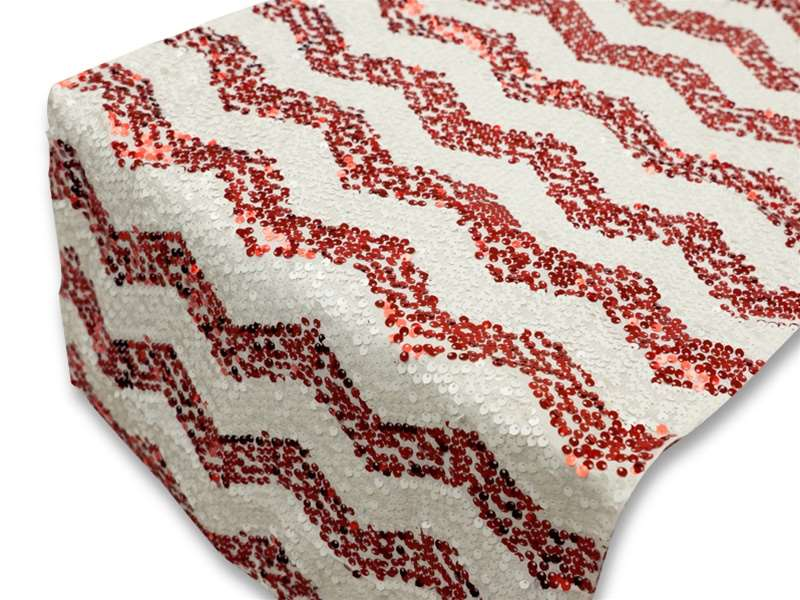 Chevron Sequin Table Runners U2013 Red · Larger Photo ...