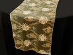 Extravagant Fashionista Style Table Runner - Gold Lace Netting