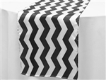 Jazzed Up Chevron Table Runners - White / Black