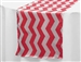 Jazzed Up Chevron Table Runners - White / Red