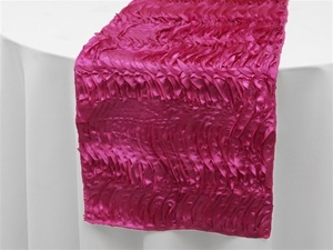 Beverly Hills Waves Table Runners - Fushia Satin