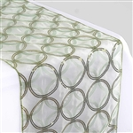 "108x12"" Reseda Sequin Circle Designs Table Runners"