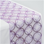 "108x12"" Lavender Sequin Circle Designs Table Runners"