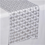 Upscale Sequin Table Runners – Silver