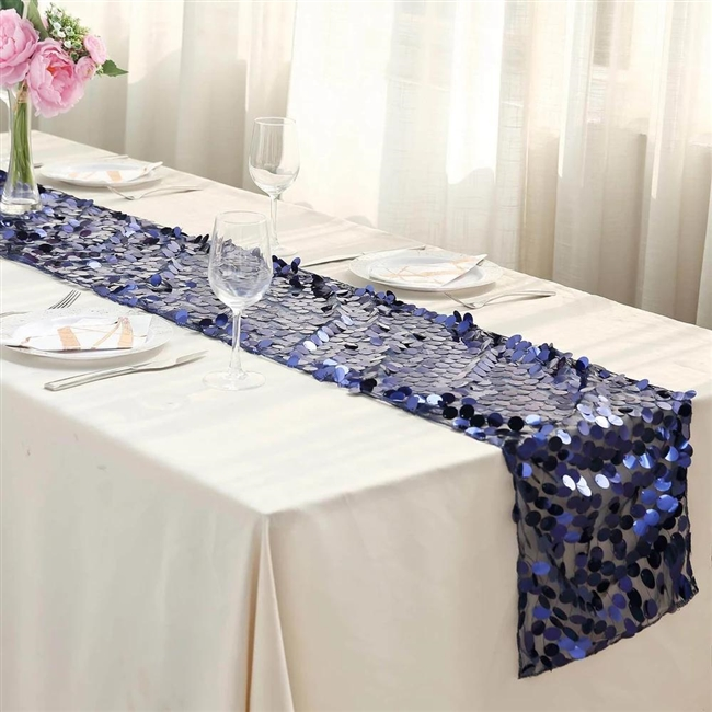 navy blue wedding reception decorations.htm navy blue premium payette sequin runner bulk buy  navy blue premium payette sequin runner