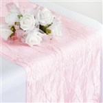 Crinkle Taffeta Table Runner - Blush