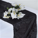 Paradise Forest Taffeta Table Runners – Black
