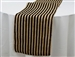 Stripe Rustic Burlap Runner - Natural Tone w/ Black