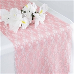 Floral Elegant Lace Table Runner - Rose Quartz