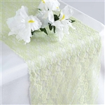 Floral Elegant Lace Table Runner - Tea Green