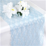 Floral Lace Table Runner - Serenity Blue