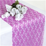 Floral Elegant Lace Table Runner - Fushia