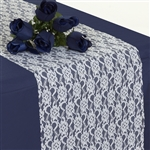 Floral Elegant Lace Table Runner - Ivory
