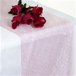 Floral Elegant Lace Table Runner | Pink Table Runners | Razatrade