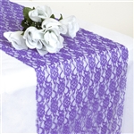 Floral Elegant Lace Table Runner - Purple