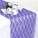 Floral Elegant Lace Table Runner - Royal Blue