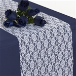 Floral Elegant Lace Table Runner - White