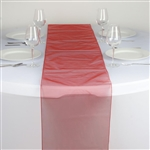 Econoline Organza Table Runner - Burnt Orange