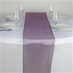 Econoline Organza Table Runner - Eggplant